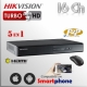 Hikvision DVR Turbo 16Ch+ 2 IP HD 5en1 1080p HDMI VGA Satax1 Audiox1