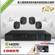 KCVI-K1MN8004B4D0DH1MP - KIT HD 1080N 4cámaras CVR HIB 4Ch 4AUD IN
