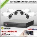 K2MN1A04B4D0S326 - KIT 4 cámaras XPROHD 1080p sensor SONY inside + CVR 4Ch Dahua