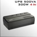 UPS APC 500Va/300W 4 Tomas conexión Universal 220V