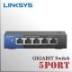5 Puertos Switch Gigabit LinkSys 10/100/1000Mbps | Plug & Play