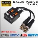 Video Balun Pasivo Tx + Rx 8MP   Multi-Tecnologia Analogica   Datos