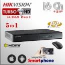 Hikvision DVR Turbo 16Ch+ 2 IP HD 5en1 HDMI VGA Satax1 Audiox1 H.265 Pro+