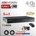 Hikvision DVR Turbo 4Ch+ 1 IP HD 5en1 1080n HDMI VGA Satax1 Audiox1