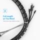 Espiral reunidor organizador de cables Negro - 2 metros x 20mm.