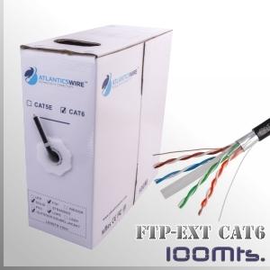 CABLE FTP CAT6 Exterior 100Mts. Apantallado 23AWG CCA