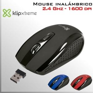 Mouse DVR inalámbrico 2.4Ghz óptico 6 botones - plug & play