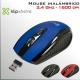 Mouse DVR inalámbrico 2.4Ghz óptico 6 botones - Azul