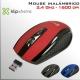 Mouse DVR inalámbrico 2.4Ghz óptico 6 botones - Rojo