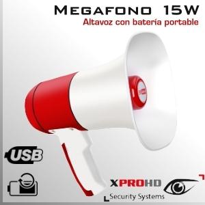 Megáfono Altavoz Portatil | Amplificador Alta Potencia | 15W
