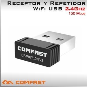 2.4Ghz USB WIFI inalámbrico 150Mbps Adaptador y Repetidor