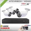 KIT 8CH-1080N 4CAM (4xBox) CMOS - XPROHD Xmeye K2MN7808B4D0F37