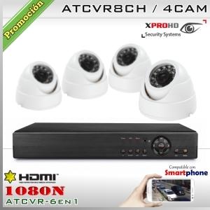 KIT 8CH-1080N 4CAM (4xDom) CMOS - XPROHD Xmeye K2MN7808B0D4F37