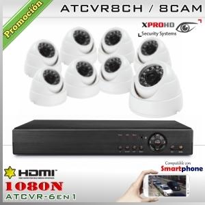 KIT 8CH-1080N 8CAM (8xDom) CMOS - XPROHD Xmeye K2MN7808B0D8F37