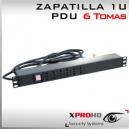 ZAPATILLA RACK 6 TOMAS - PDU -  | 1U - ENCHUFE CHILENO