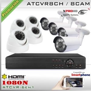 KIT 8CH-1080N 8CAM (4xBox+4xDom) CMOS - XPROHD Xmeye K2MN7808B4D4F37