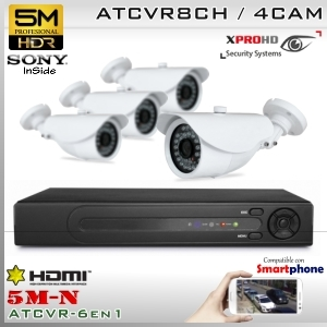 KIT 8CH(5M-N) 4CAM (4xBox) sensor SONY - XPROHD Xmeye K5MN8008B4D0S326