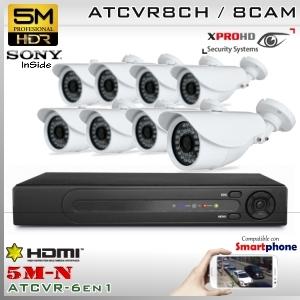KIT 8CH(5M-N) 8CAM (8xBox) sensor SONY - XPROHD Xmeye K5MN8008B8D0S326