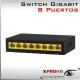 8 Puertos Switch Gigabit 10/100/1000Mbps | Plug & Play