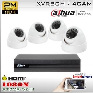 KIT 8CH-1080N 4CAM (4xDom) CMOS - DAHUA DMSS K2MN1A08B0D4F37