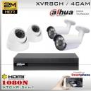 KIT 8CH-1080N 4CAM (2xBox+2xDom) CMOS - DAHUA DMSS K2MN1A08B2D2F37