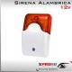 Sirena alámbrica con luz estroboscópica y sonido 12V