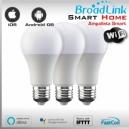 3x AMPOLLETA LED WIFI SMART SOCKET E27 By Broadlink Bestcon