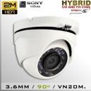 CVI-3651-2MPS323 DomeCam IR Profesional Sensor SONY 1080p 2Mp HD-CVI 90º