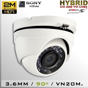 3651-2MPS323 DomeCam IR Profesional Sensor SONY 1080p 2Mp HD-CVI 90º