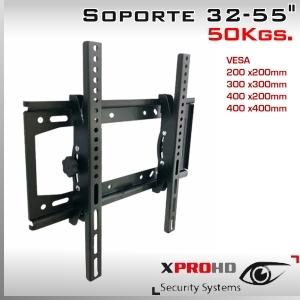 SOPORTE MONITOR INCLINABLE 32 a 55 VESA MULTIPLE - 50Kg.