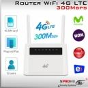 Router WiFi 3G/4G LTE Liberado - WiFi Rural y Domiciliario