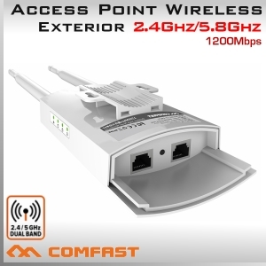 Access point y Repetidor WiFi 2.4Ghz y 5.8Ghz Exterior 1200Mbps