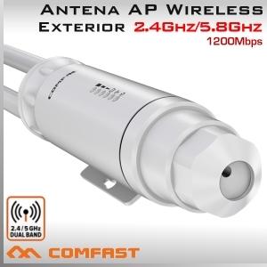 Antena AP y Repetidor WiFi 2.4Ghz y 5.8Ghz Exterior 1200Mbps