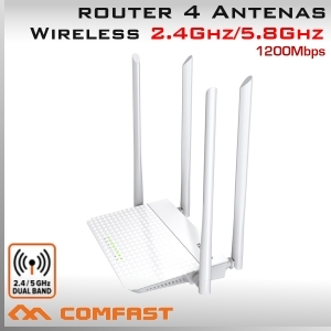 Router WiFi 2.4Ghz y 5.8Ghz Wireless Domiciliario 1200Mbps