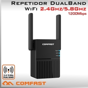 Repetidor 2.4Ghz y 5.8Ghz WiFi 1200Mbps Banda Dual