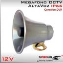 MEGAFONO CCTV Activo 13W | Altavoz | Alta Potencia | RCA IN | IP66