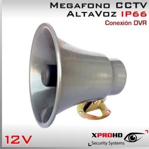 MEGAFONO CCTV Activo 13W   Altavoz   Alta Potencia   RCA IN   IP66