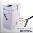 CABLE FTP CAT5 Exterior 100Mts. Apantallado 23AWG CCA