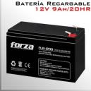 Batería Recargable 12V-9A Forza compatible UPS Forza y APC Series
