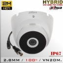 DH-HAC-T2A21N DomeCam Dahua Smart IR Profesional Sensor CMOS 1080p 2Mp Hibrida - Aluminio
