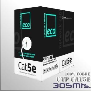 Cable UTP CAT5 100% Cobre Unifilar - 305 Mts.- Serie ECO