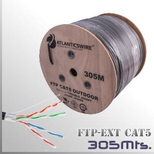 CABLE FTP CAT5 Exterior 305M. Apantallado 23AWG CCA