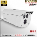 DH-HAC-HFW1200DN - BoxCam Dahua Smart IR Profesional Sensor CMOS 1080p 2Mp Hibrida
