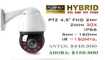 9212-2MP PTZ 30X Hibrida Sensor SONY FullHD 2MP IR 150mts