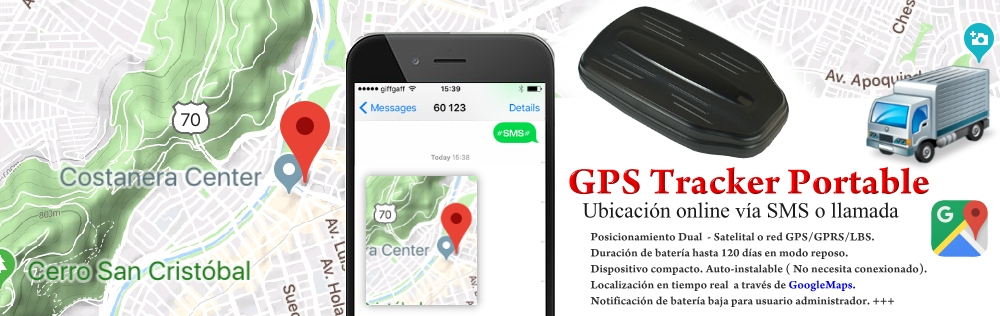 Localizador GPS Tracker Portable Bateria 12000mA Larga Duracion SIM CARD