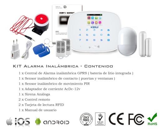 KIT de Alarma inalámbrico G19 GSM+GPRS SmartPhone