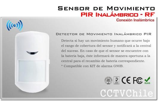 Sensor de movimiento PIR inalambrico Alarma G90B RF - PIR humano No animal