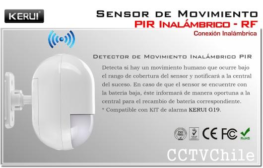 Sensor de movimiento PIR inalambrico Alarma G19 G18 RF - PIR humano No animal
