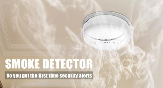 Smoke Detector GS04 SD04 Kerui - Detector de Humo inalambrico RF compatible Alarma G19 Kerui GSM+GPRS SmartPhone