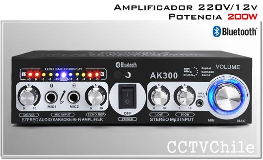 Amplificador de Audio y sonido - Alta potencia 220v 12v Bluetooth